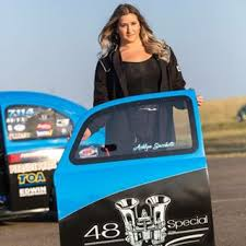Ashlyn Sacchette - Driver of JayCee VW Bug Drag racecar